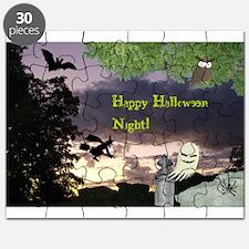 Happy Halloween Night Witch Puzzle