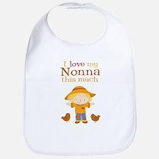 Scarecrow I Love Nonna Bib