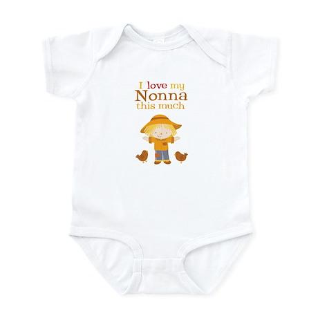 Scarecrow I Love Nonna Baby Bodysuit
