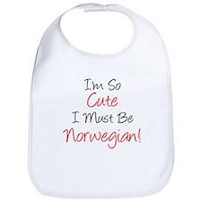So Cute Must Be Norwegian Bib