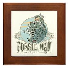 Fossil Man Framed Tile