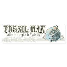 Fossil Man Bumper Bumper Sticker