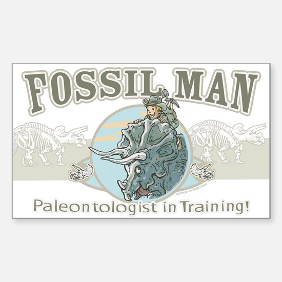 Fossil Man Rectangle Decal