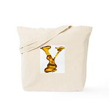 Blown Gold Y Tote Bag