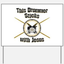 Christian Drummer Yard Sign