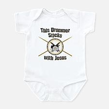 Christian Drummer Infant Bodysuit