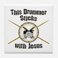 Christian Drummer Tile Coaster