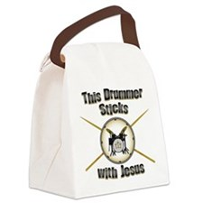Christian Drummer Canvas Lunch Bag