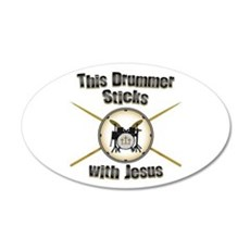 Christian Drummer 35x21 Oval Wall Decal