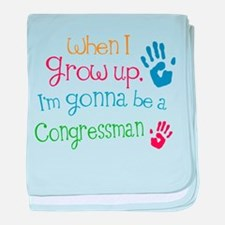 Kids Future Congressman baby blanket
