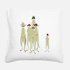 Meerkats Square Canvas Pillow