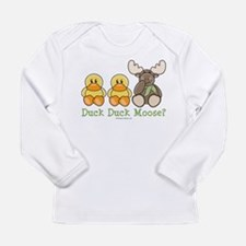 Funny Duck Duck Moose Long Sleeve T-Shirt