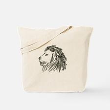 Smoke Lion Black Tote Bag