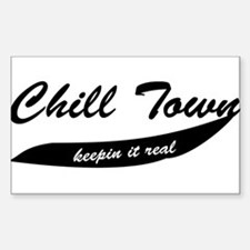 Chill Town Rectangle Decal