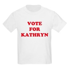 VOTE FOR KATHRYN  Kids T-Shirt