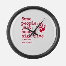 High Five in the face Large Wall Clock