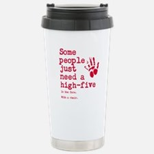 High Five in the face Stainless Steel Travel Mug