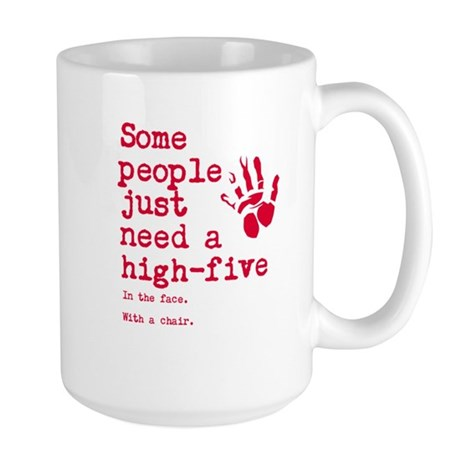 High Five in the face Large Mug
