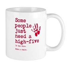 High Five in the face Small Mugs