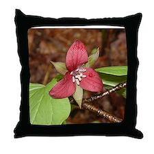 PTXpress Red Trillium Throw Pillow