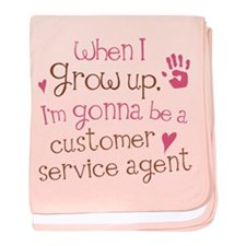 Future Customer Service Agent baby blanket