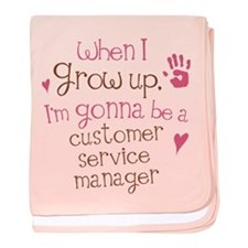 Future Customer Service Agent baby blanket