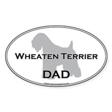 Wheaten Terrier DAD Oval Decal