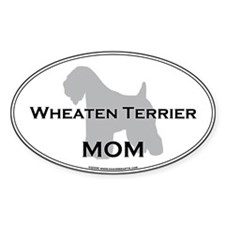 Wheaten Terrier MOM Oval Decal
