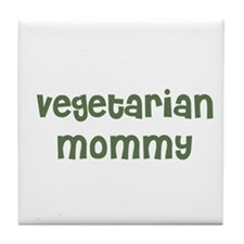 vegetarian mommy Tile Coaster