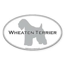 Wheaten Terrier Oval Decal