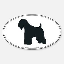 Wheaten Terrier Silhouette Oval Decal