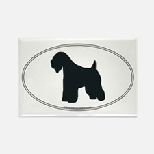 Wheaten Terrier Silhouette Rectangle Magnet
