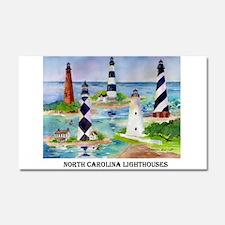 N.C.Light Houses Car Magnet 20 x 12