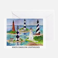 N.C.Light Houses Greeting Card