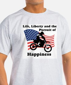 Motocross Happiness Ash Grey T-Shirt