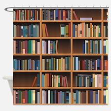 Bookshelf Shower Curtain