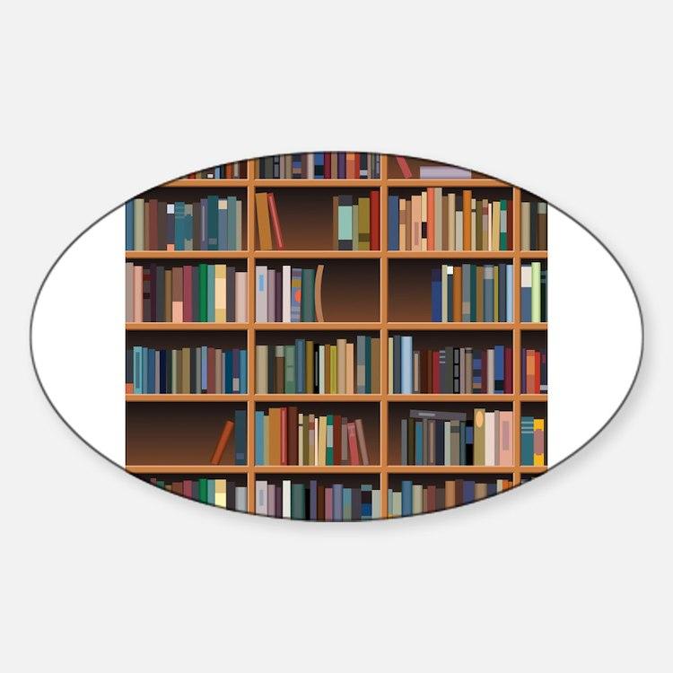 Bookshelf Sticker (Oval)