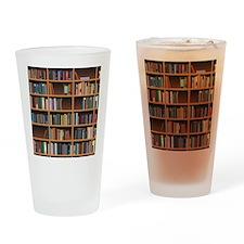 Bookshelf Drinking Glass