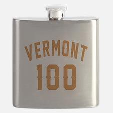 Vermont 100 Birthday Designs Flask