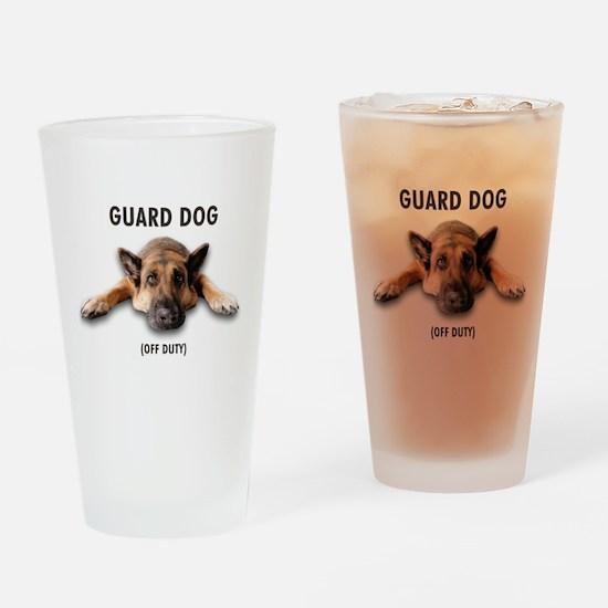 Guard Dog Drinking Glass