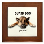Guard Dog Framed Tile
