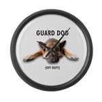 Guard Dog Large Wall Clock