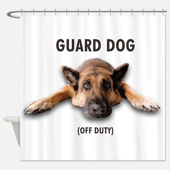 Guard Dog Shower Curtain