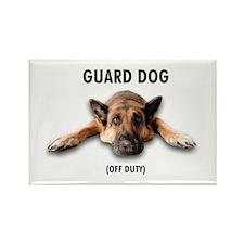 Guard Dog Rectangle Magnet