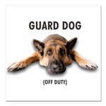 Guard Dog Square Car Magnet 3