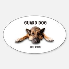 Guard Dog Sticker (Oval)
