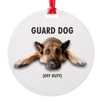 Guard Dog Round Ornament