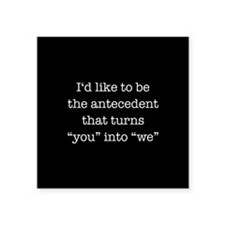 "Antecedent lover Square Sticker 3"" x 3"""