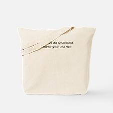 Antecedent lover Tote Bag
