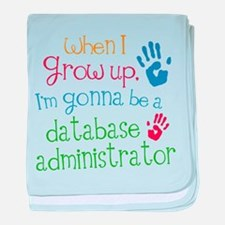 Future Database Administrator baby blanket